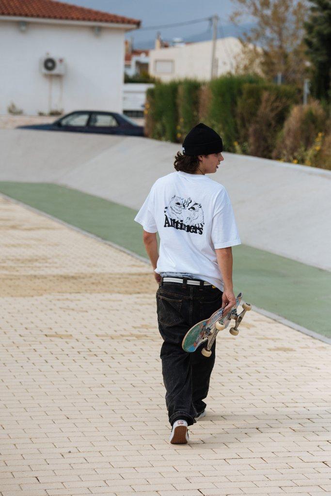 【ALLTIMERS/オールタイマーズ】RACOONS SMORKING POT TEE Tシャツ / WHITE