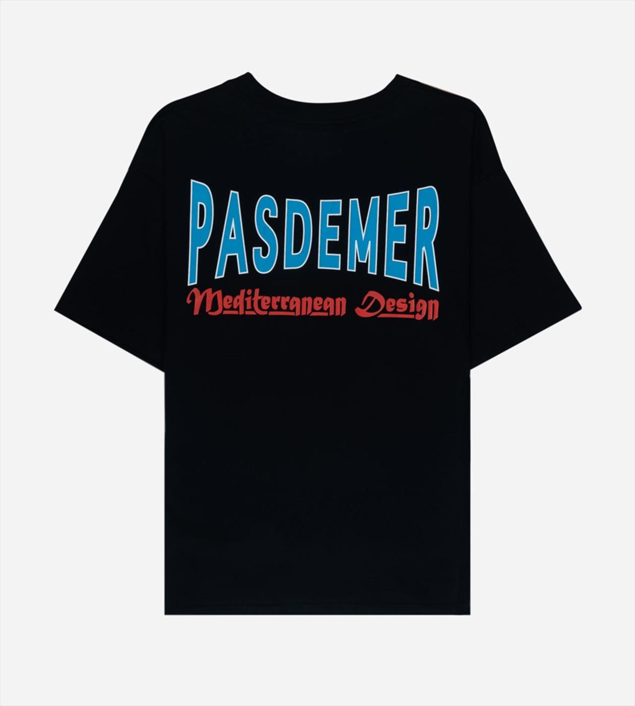 【PAS DE MER/パドゥメ】MED. DESIGN OVERSIZE T-SHIRT Tシャツ / BLACK
