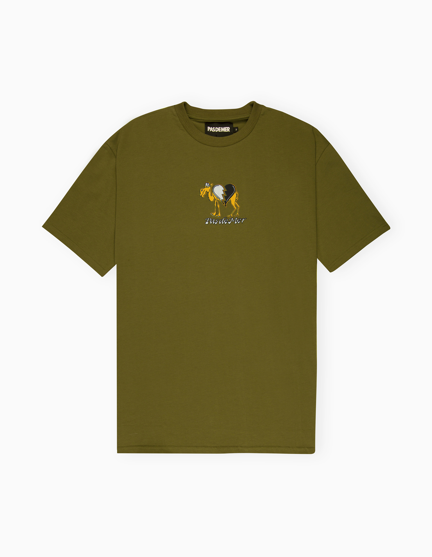 【PAS DE MER/パドゥメ】CAMEL T-SHIRT Tシャツ / ARMY GREEN