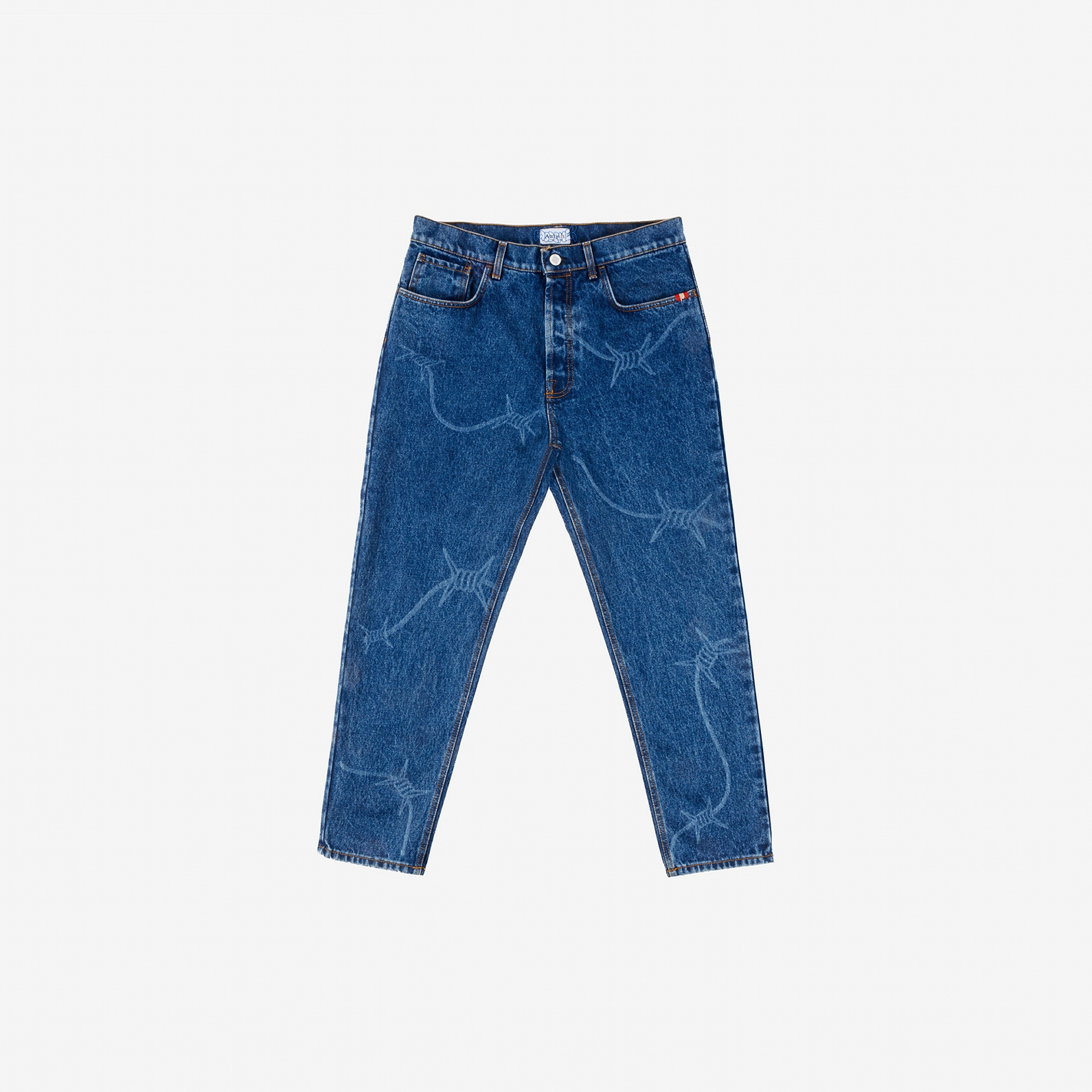 【PAS DE MER/パドゥメ】WIRE PANTS デニムパンツ / DARK BLUE