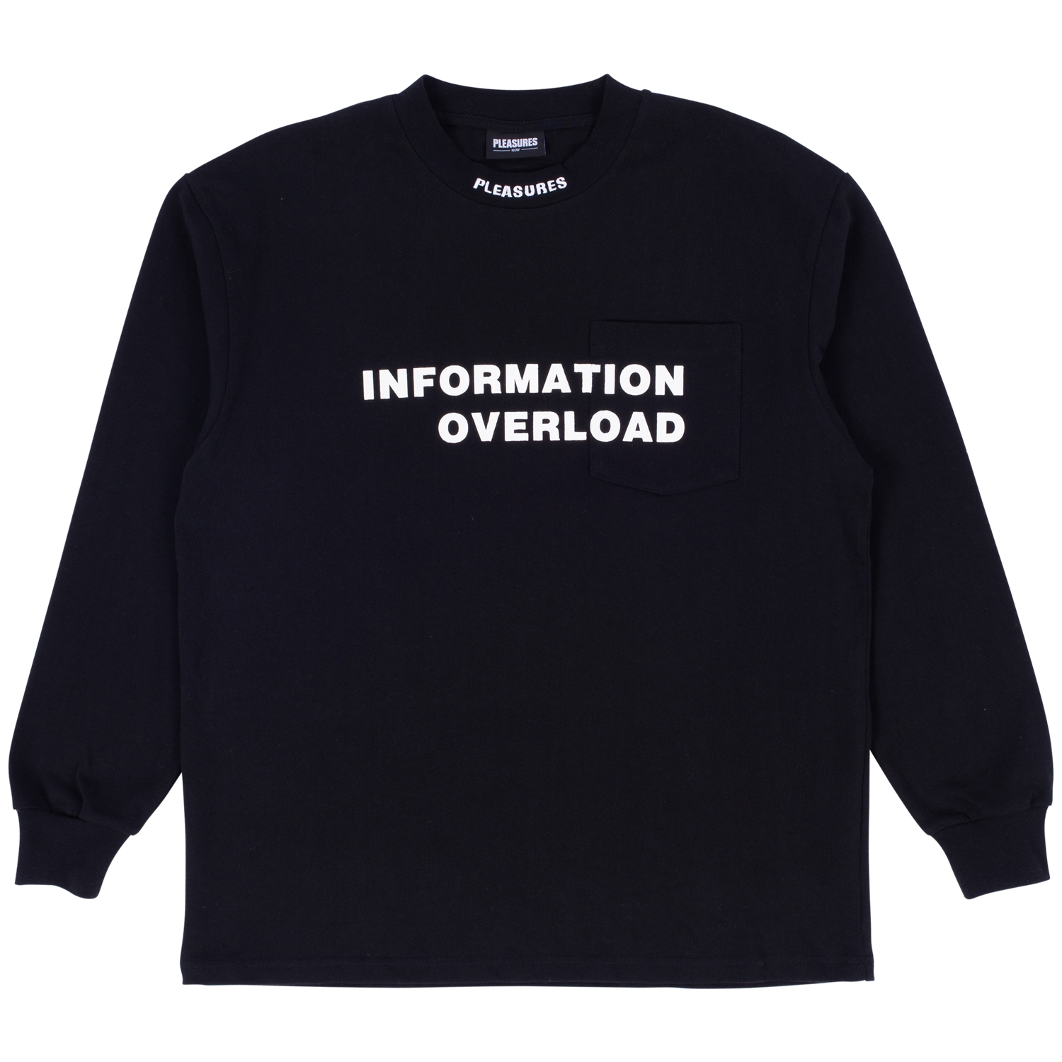 【PLEASURES/プレジャーズ】INFORMATION HEAVY WEIGHT LONG SLEEVE カットソー / BLACK
