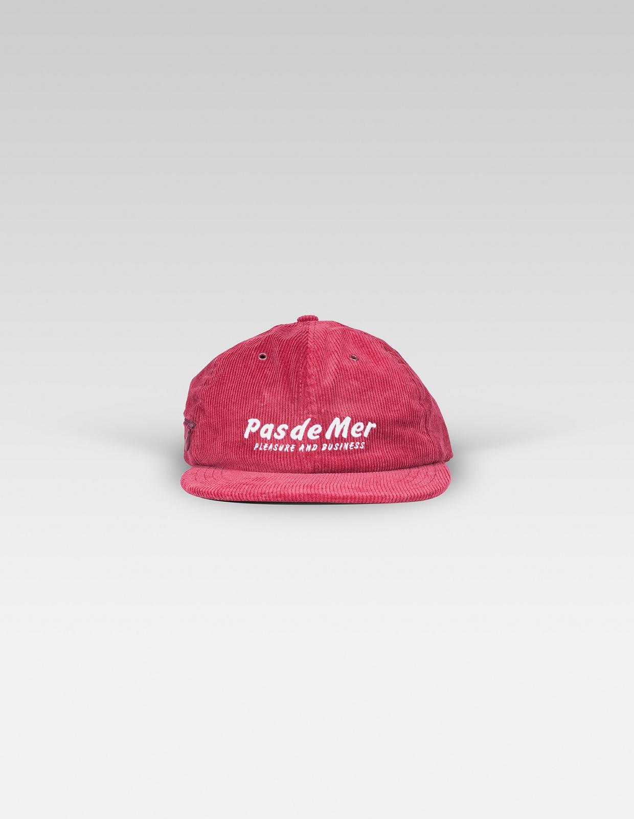 【PAS DE MER/パドゥメ】PLEASURE AND BUSINESS CAP ストラップバックキャップ / BURGUNDY