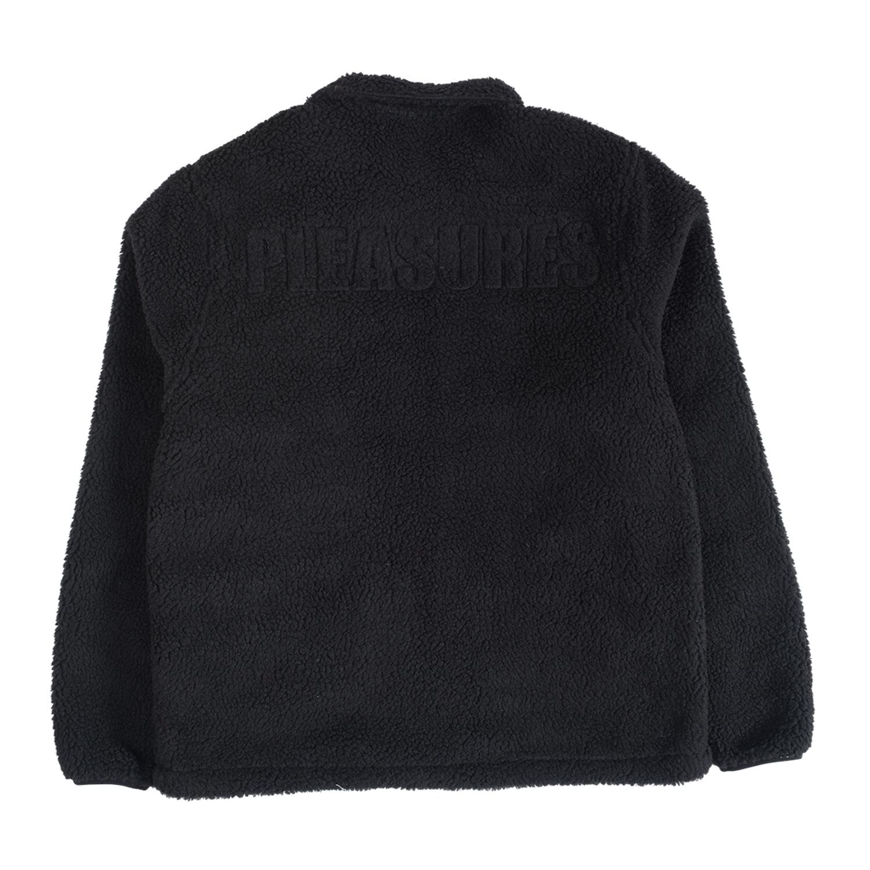 【PLEASURES/プレジャーズ】DEEP PILE COACH JACKET コーチジャケット / BLACK