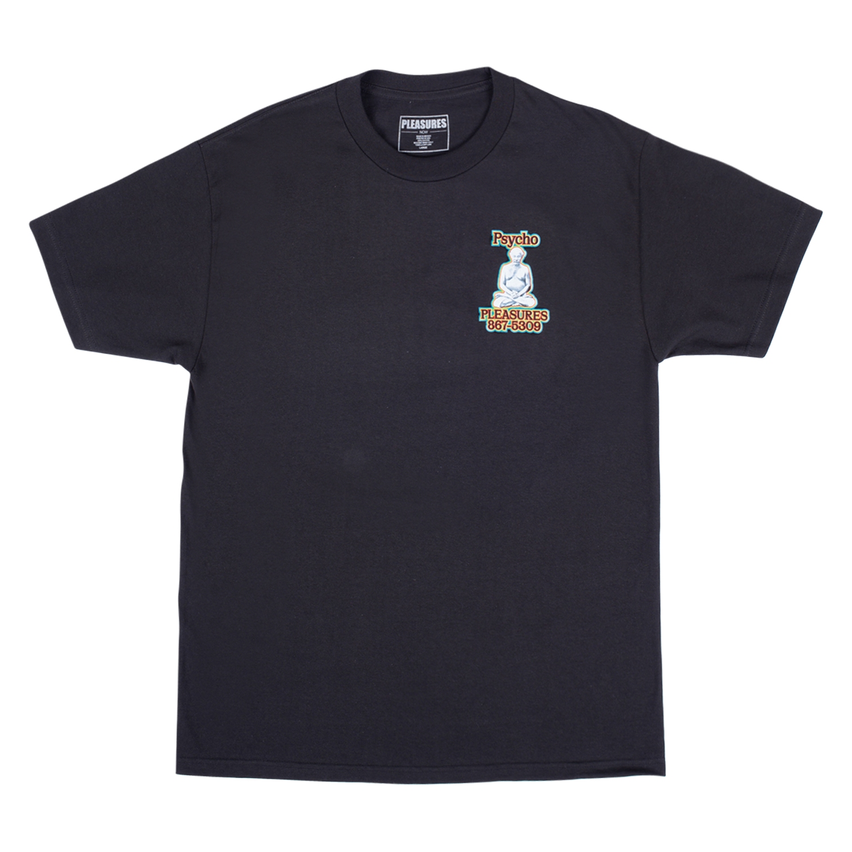 【PLEASURES/プレジャーズ】PYSCHO T-SHIRT Tシャツ / BLACK