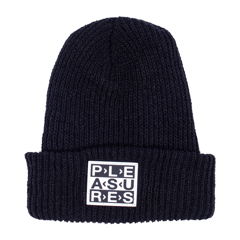 【PLEASURES/プレジャーズ】FRAGILE BEANIE ニット帽 / BLACK