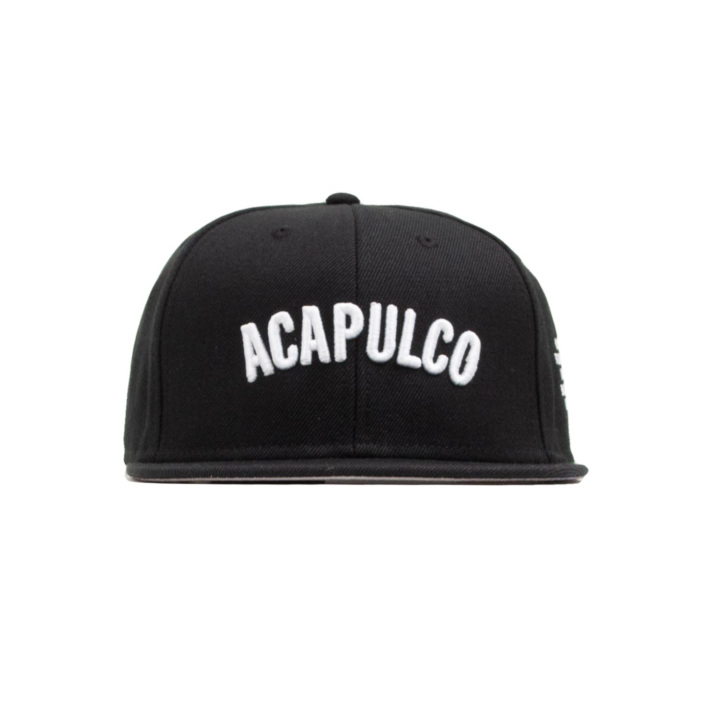 【ACAPULCO GOLD/アカプルコ ゴールド】STANDARD 6 PANEL SNAPBACK 6パネルキャップ / BLACK