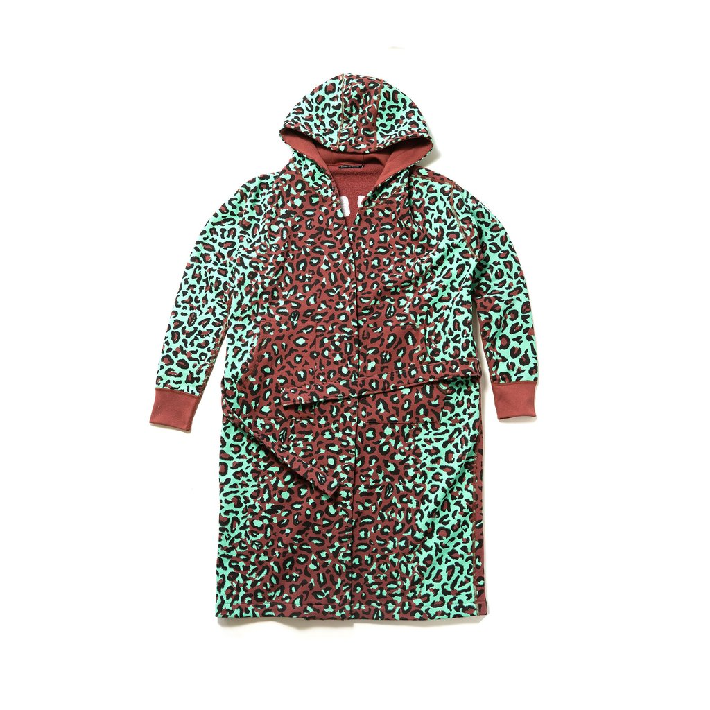 【RAISED BY WOLVES/レイズドバイウルブス】BOXING ROBE ボクシングローブ / LEOPARD CAMO