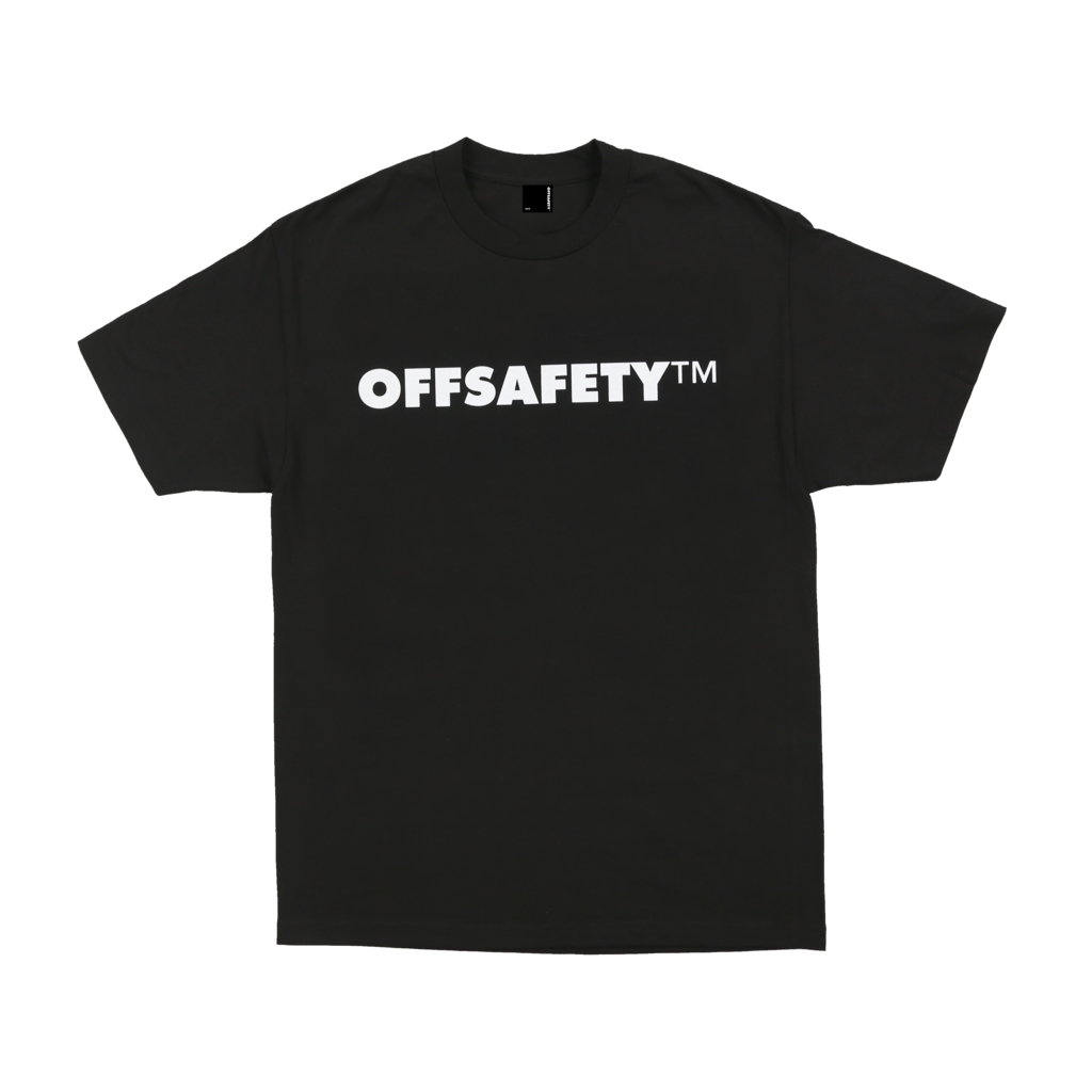 【OFF SAFETY/オフセーフティー】SPELLOUT TEE Tシャツ / BLACK