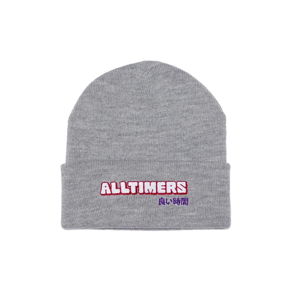 【ALLTIMERS/オールタイマーズ】BLOCKED BEANIE ニット帽 / HEATHER