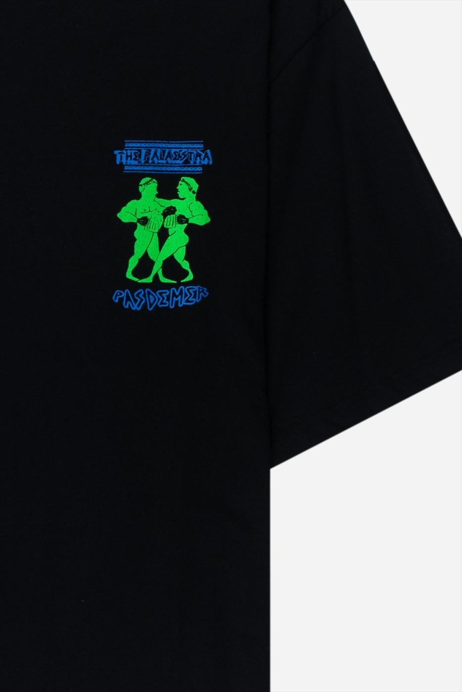 【PAS DE MER/パドゥメ】PALAESTRA T-SHIRT Tシャツ / BLACK