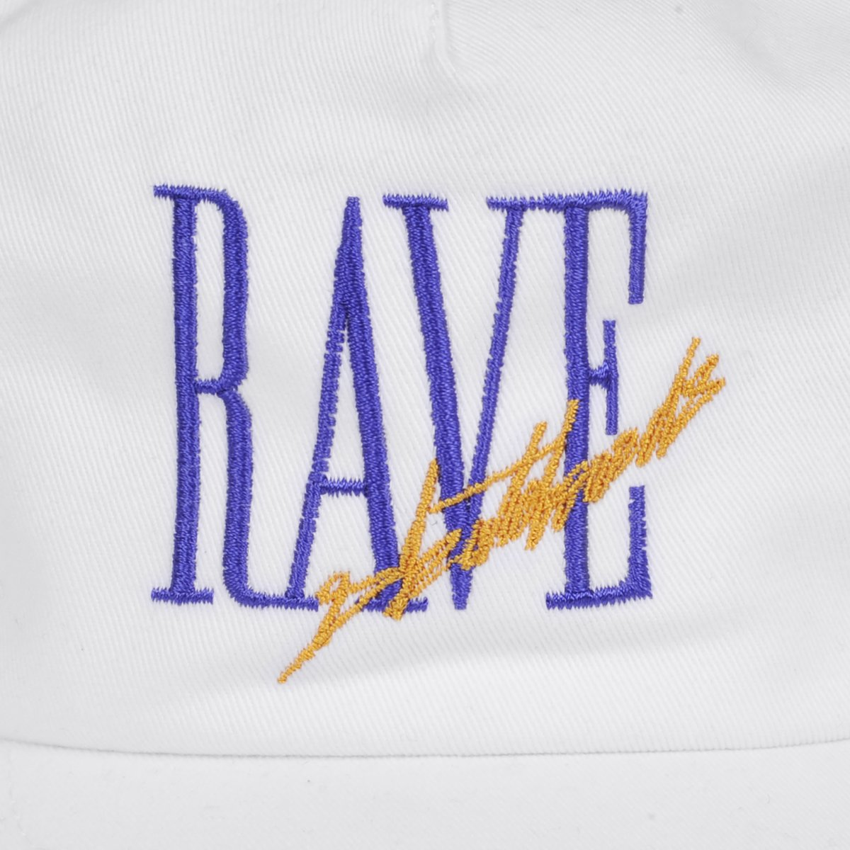 【RAVE SKATEBOARDS/レイブスケートボード】TRACY CAP 5パネルキャップ / WHITE