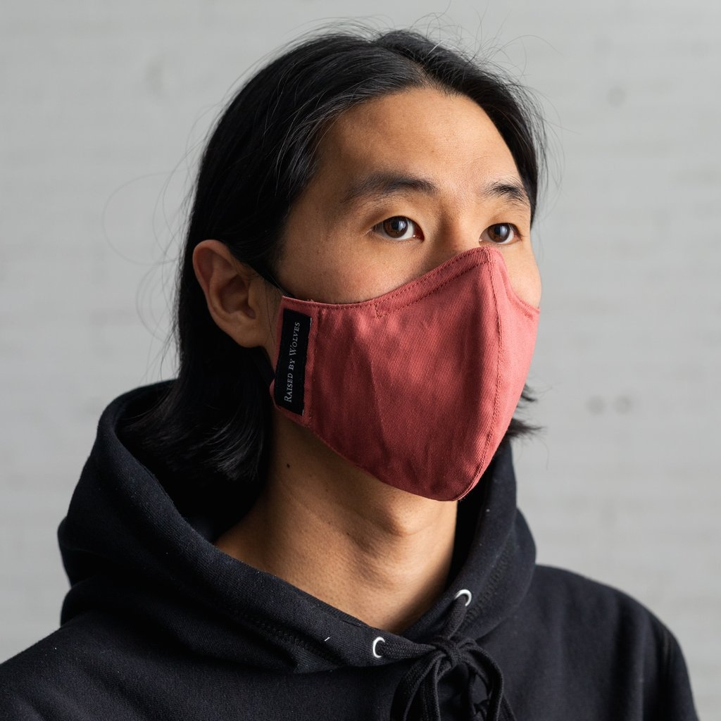 【RAISED BY WOLVES/レイズドバイウルブス】FACE MASK フェイスマスク / NAUTICAL RED