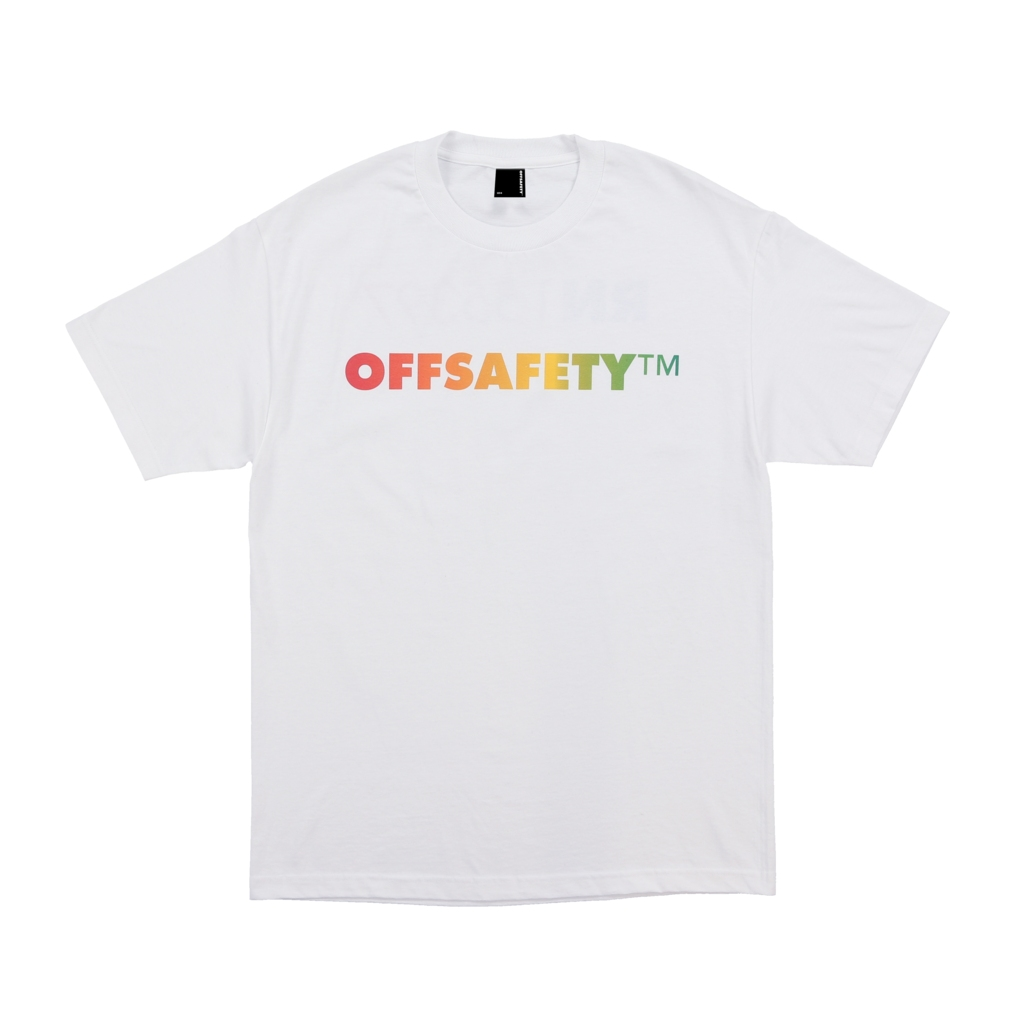 【OFF SAFETY/オフセーフティー】SPELLOUT TEE Tシャツ / WHITE