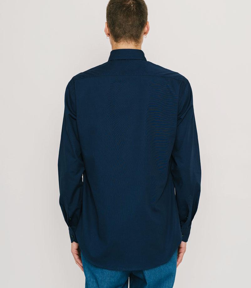 【PAS DE MER/パドゥメ】PALAESTRA SHIRT 長袖シャツ / DARK BLUE