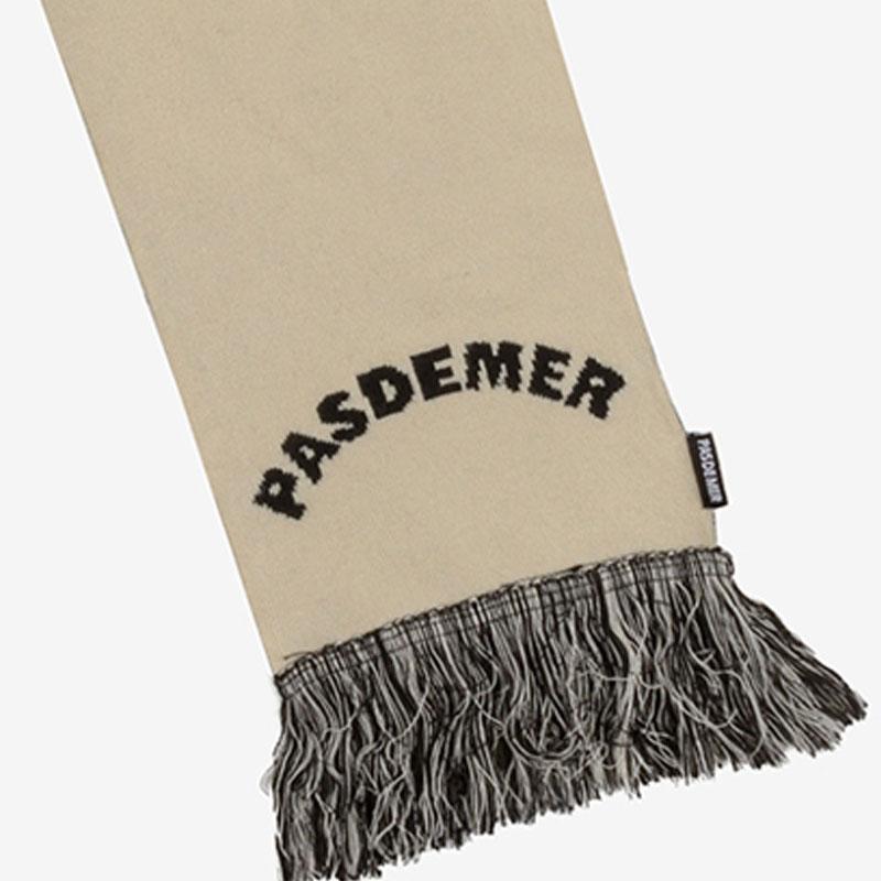【PAS DE MER/パドゥメ】PASDEMER SCARF スカーフ / BLACK NATURAL