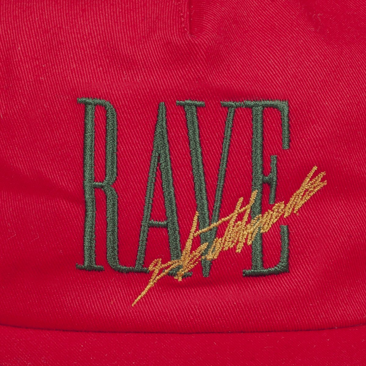 【RAVE SKATEBOARDS/レイブスケートボード】TRACY CAP 5パネルキャップ / RED