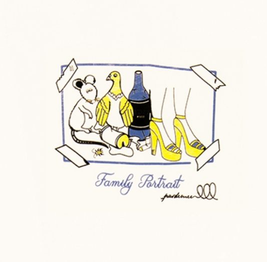 【PAS DE MER/パドゥメ】FAMILY PORTRAIT T-SHIRT Tシャツ / NATURAL
