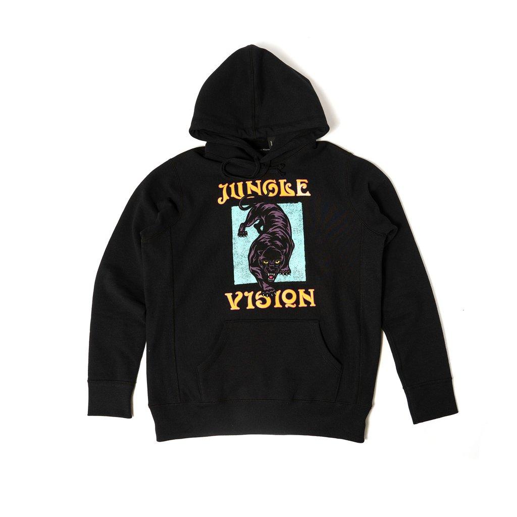 【RAISED BY WOLVES/レイズドバイウルブス】JUNGLE VISION HOODIE パーカー / BLACK