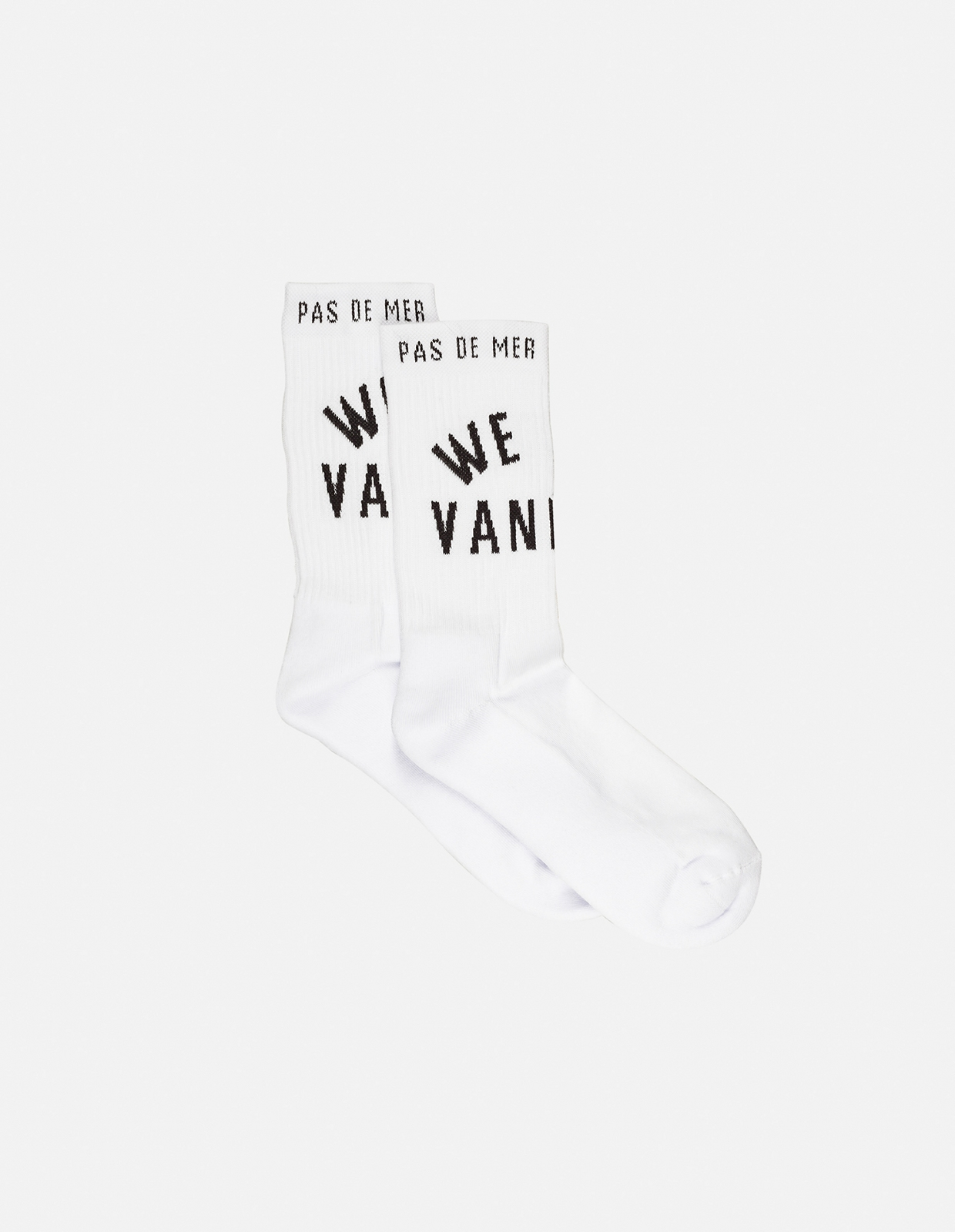 【PAS DE MER/パドゥメ】WE ARE VANDALS SOCKS ソックス / WHITE
