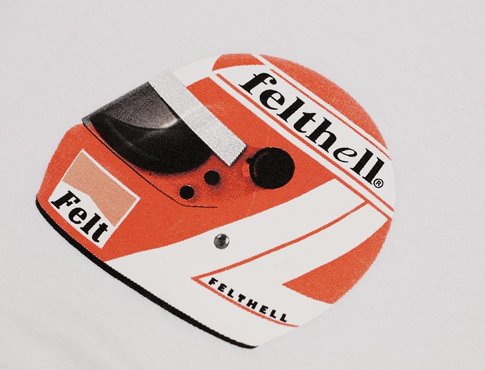 【FELT/フェルト】FELTHELL HELMET TEE SHIRT Tシャツ / WHITE