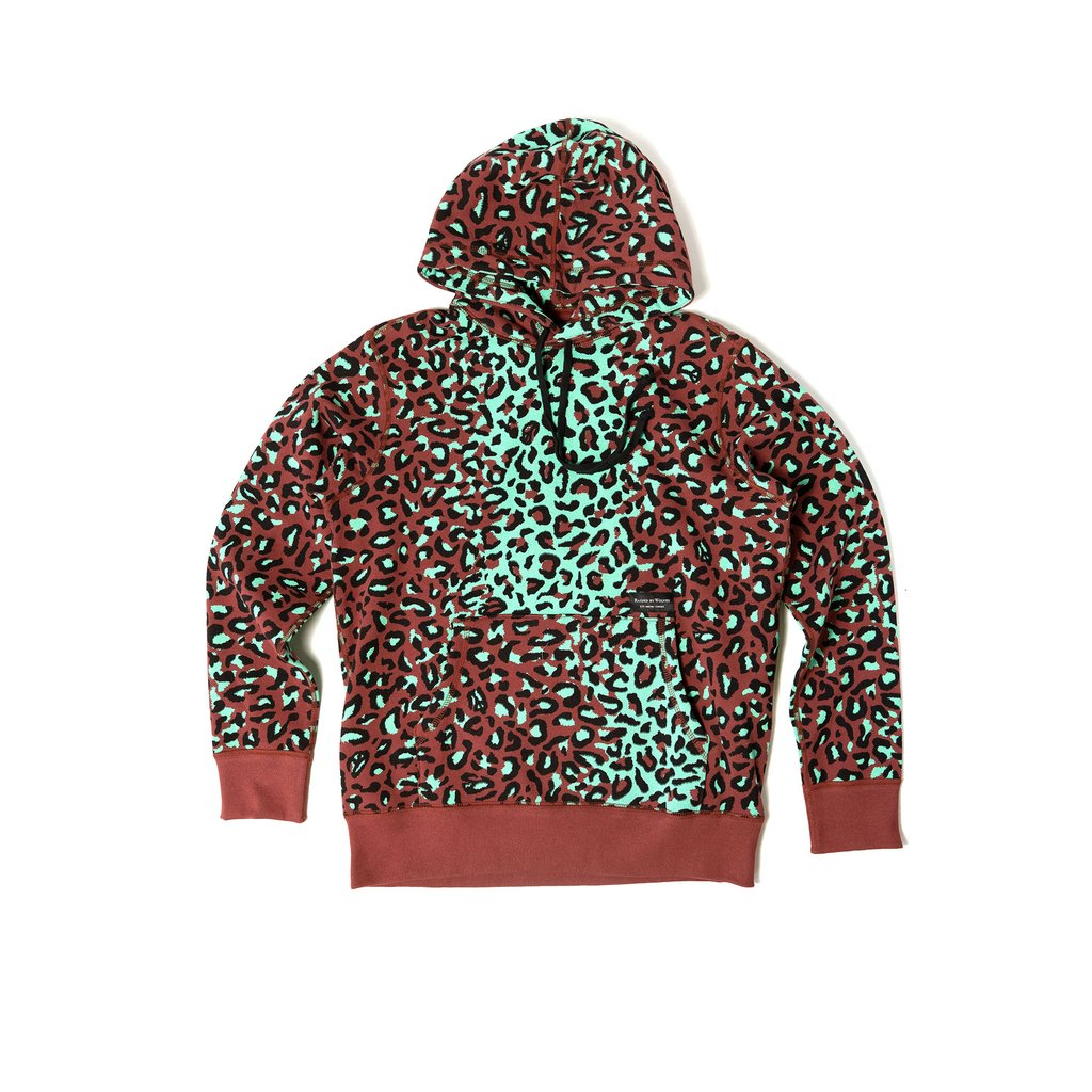 【RAISED BY WOLVES/レイズドバイウルブス】LEOPARD CAMO HOODIE パーカー / LEOPARD CAMO