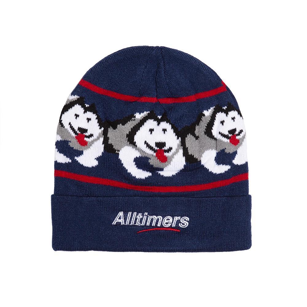 【ALLTIMERS/オールタイマーズ】SNOW PUP BEANIE ニット帽 / NAVY
