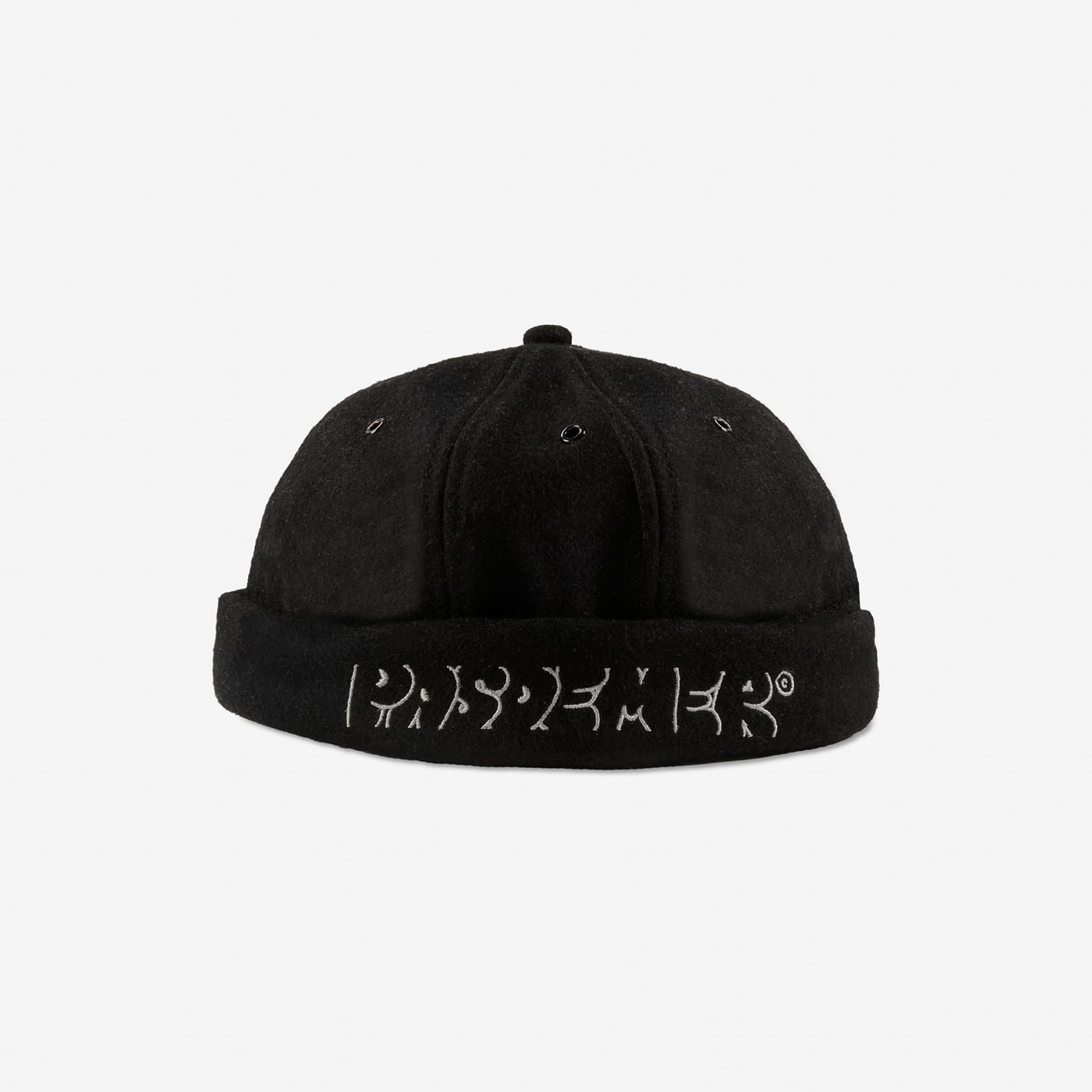 【PAS DE MER/パドゥメ】GRAFFITI ROLL CAP ロールキャップ / BLACK
