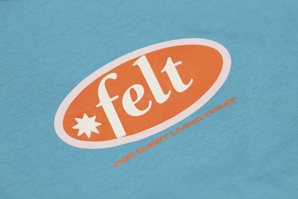 【FELT/フェルト】HAMPTON LOGO TEE SHIRT Tシャツ / TURQUOISE