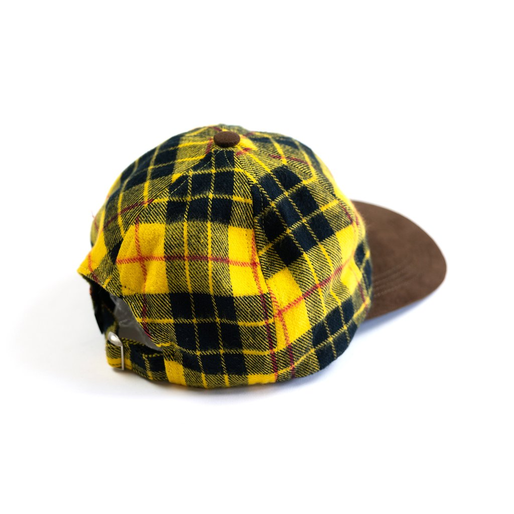 【RAISED BY WOLVES/レイズドバイウルブス】PLAID HUNTING CAP スナップバックキャップ / GOLD PLAID FLANNEL