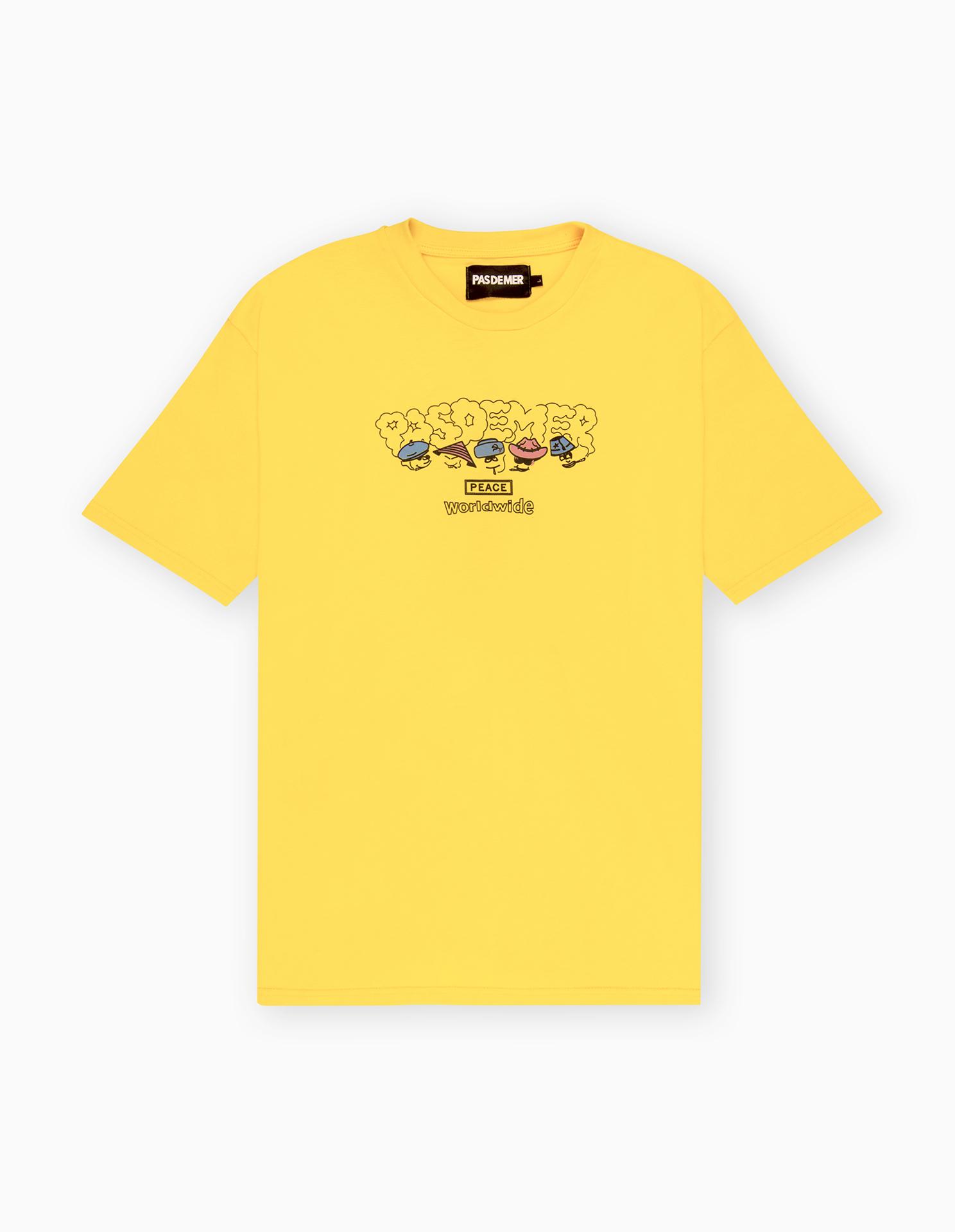 【PAS DE MER/パドゥメ】PEACE T-SHIRT Tシャツ / YELLOW