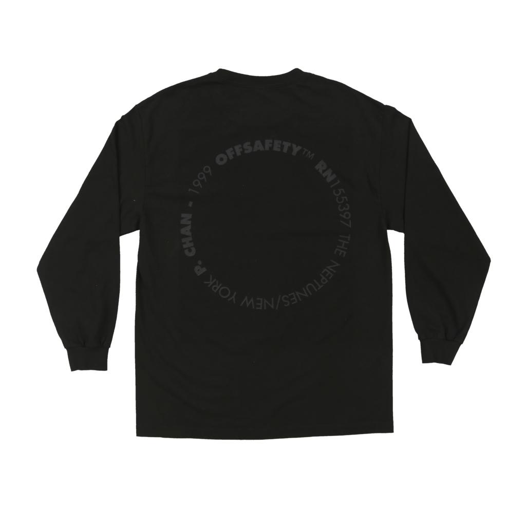 【OFF SAFETY/オフセーフティー】NERDS LS TEE ロングTシャツ / BLACK