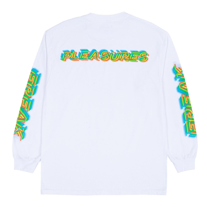 【PLEASURES/プレジャーズ】FREAK LONG SLEEVE T-SHIRT ロングTシャツ / WHITE