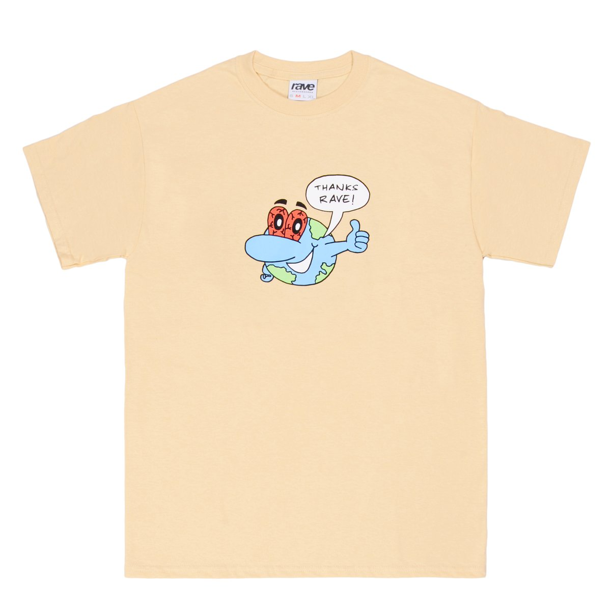 【RAVE SKATEBOARDS/レイブスケートボード】ZONKED PLANET TEE Tシャツ / CREAM