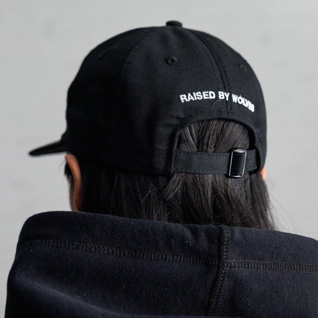 【RAISED BY WOLVES/レイズドバイウルブス】TURN OFF DAD CAP ダドキャップ / BLACK