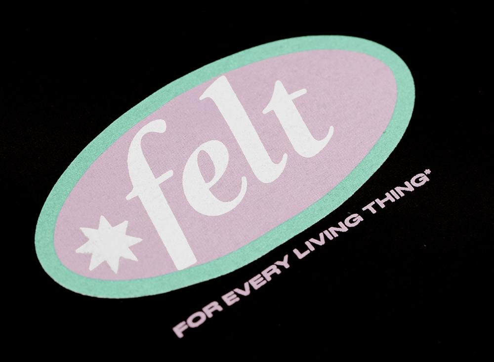 【FELT/フェルト】 Tシャツ / BLACK