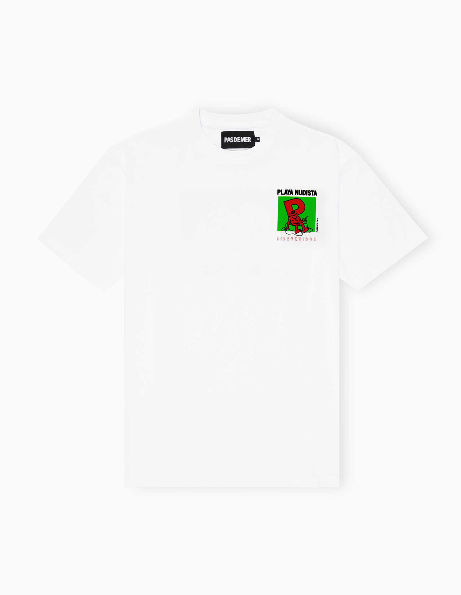 【PAS DE MER/パドゥメ】PLAYA NUDISTA T-SHIRT Tシャツ / WHITE