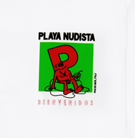 【PAS DE MER/パドゥメ】PLAYA NUDISTA T-SHIRT Tシャツ / WHITE
