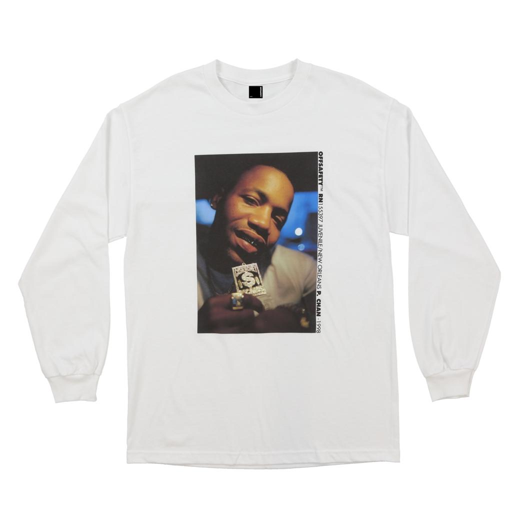 【OFF SAFETY/オフセーフティー】BLING LS TEE ロングTシャツ / WHITE