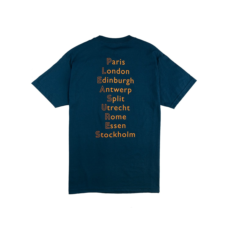 【PLEASURES/プレジャーズ】EUROPE 92 T-SHIRT Tシャツ / HARBOR BLUE
