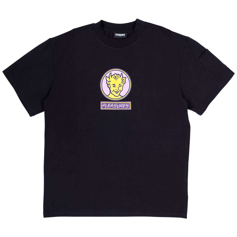 【PLEASURES/プレジャーズ】HOT STUFF HEAVYWEIGHT SHIRT カットソーTシャツ / BLACK