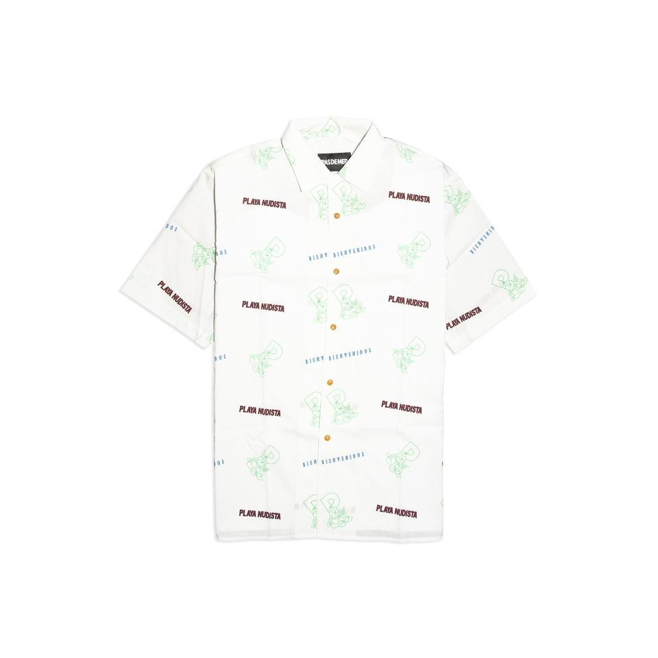 【PAS DE MER/パドゥメ】PLAYA NUDISTA SL SHIRT 半袖シャツ / WHITE