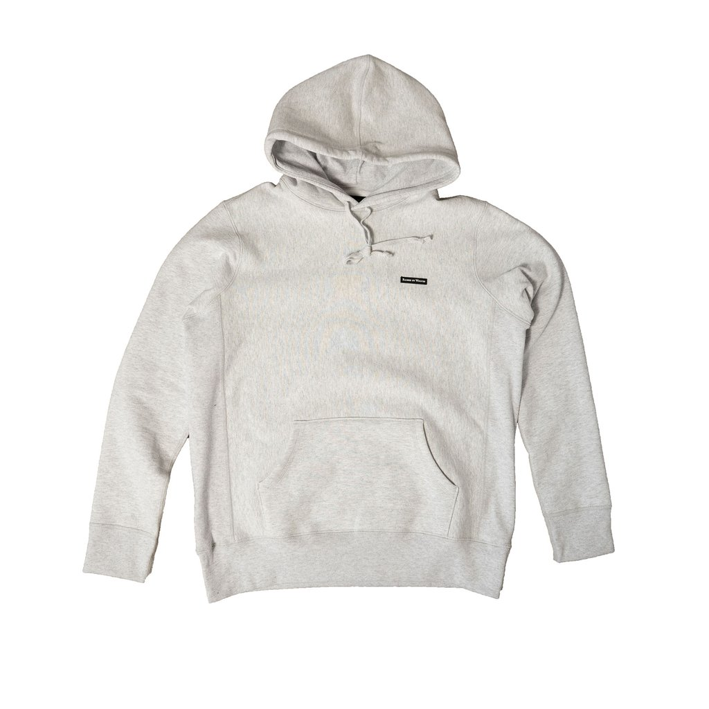 【RAISED BY WOLVES/レイズドバイウルブス】PVC LOGO HOODIE パーカー / HEATHER ASH