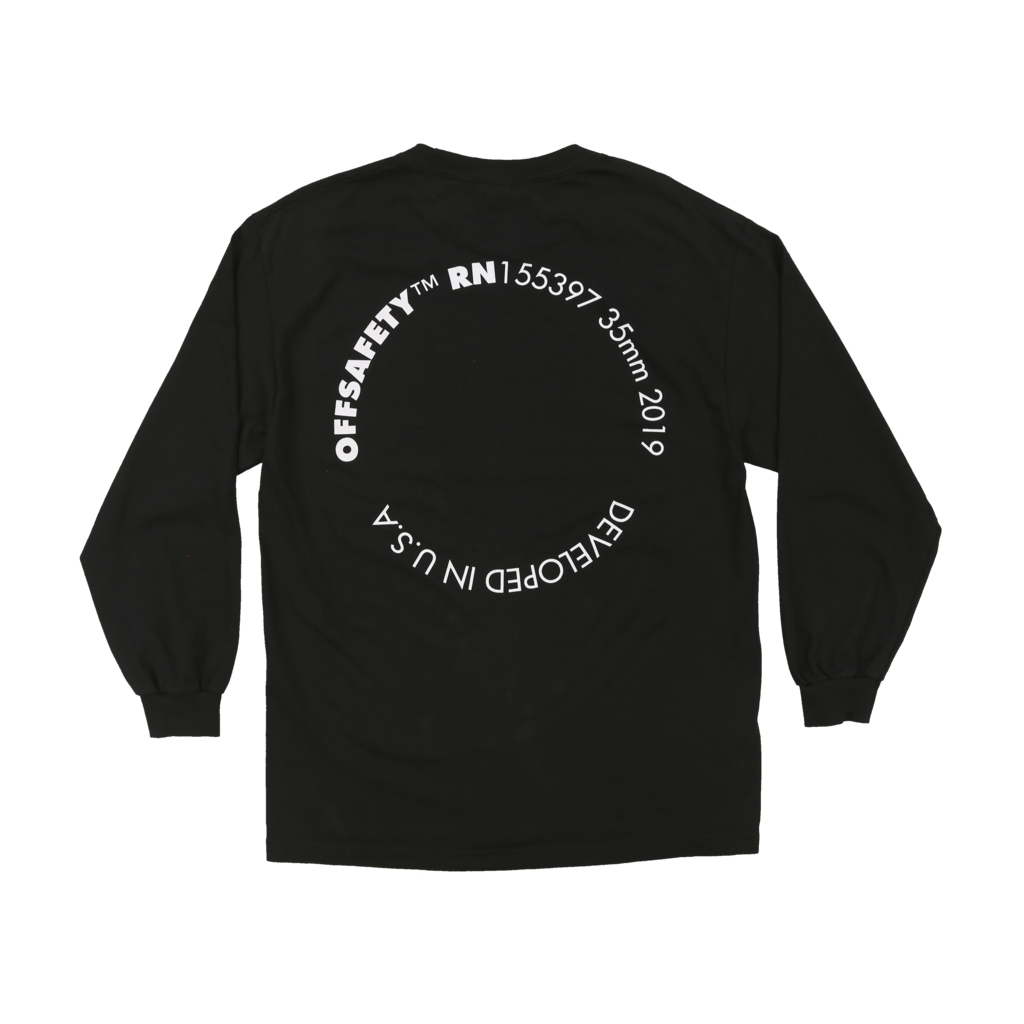 【OFF SAFETY/オフセーフティー】SURROUNDED LS TEE ロングTシャツ / BLACK