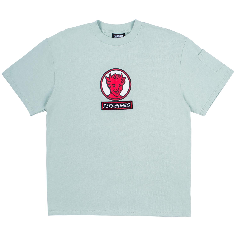 【PLEASURES/プレジャーズ】HOT STUFF HEAVYWEIGHT SHIRT カットソーTシャツ / MINT