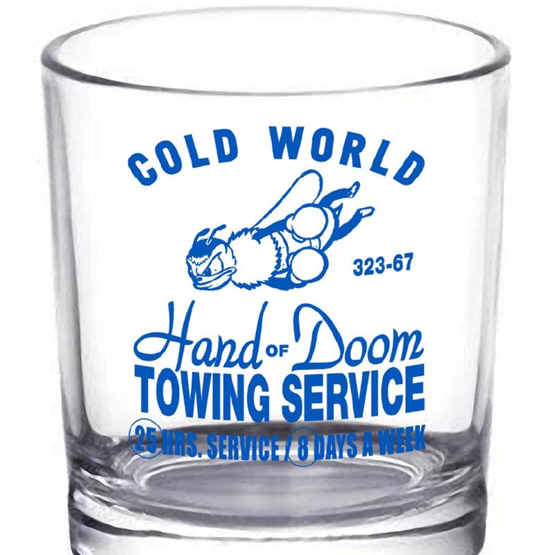 【COLD WORLD FROZEN GOODS/コールドワールドフローズングッズ】HAND OF DOOM 10.Z WHISKEY GLASS ウイスキーグラス / GLASS