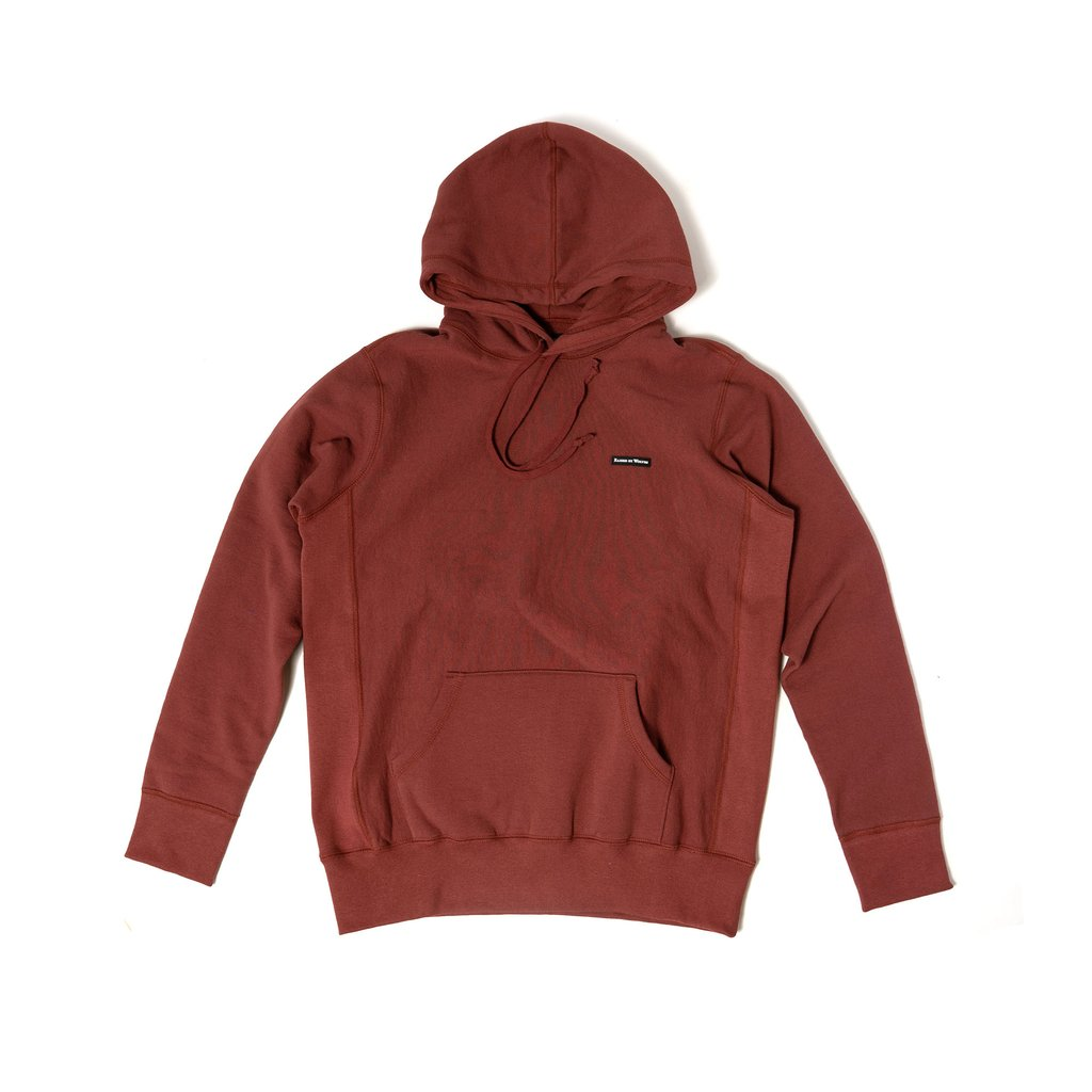 【RAISED BY WOLVES/レイズドバイウルブス】PVC LOGO HOODIE パーカー / CONGO RED