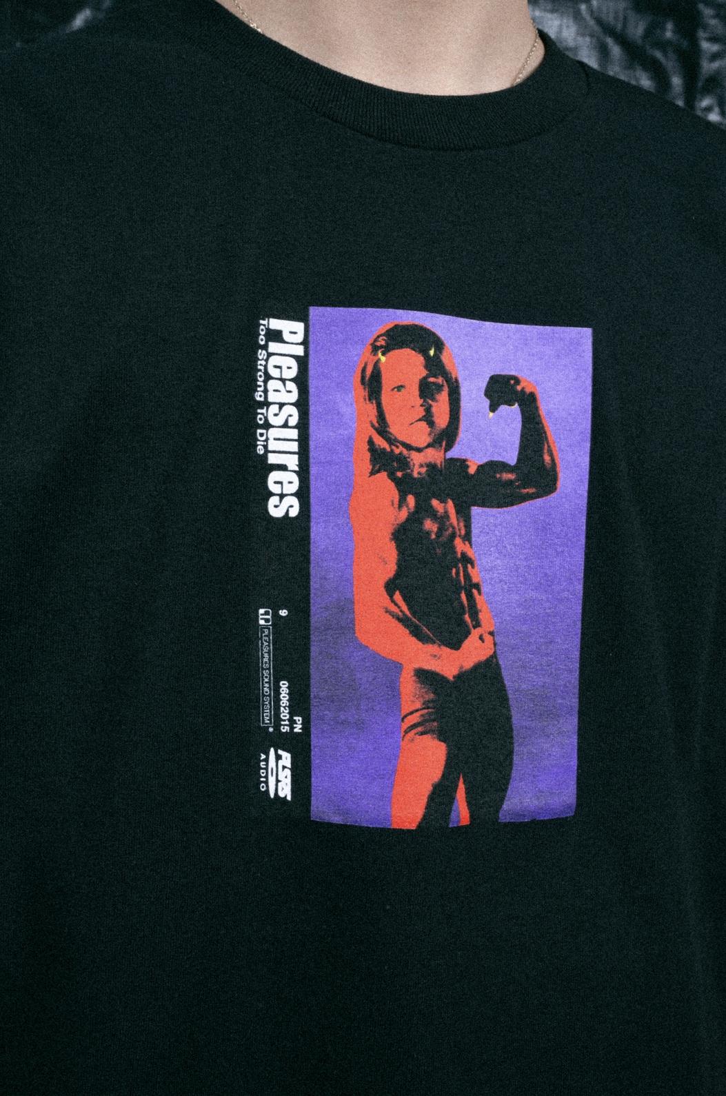 【PLEASURES/プレジャーズ】2 STRONG 2 DIE T-SHIRT Tシャツ /  BLACK