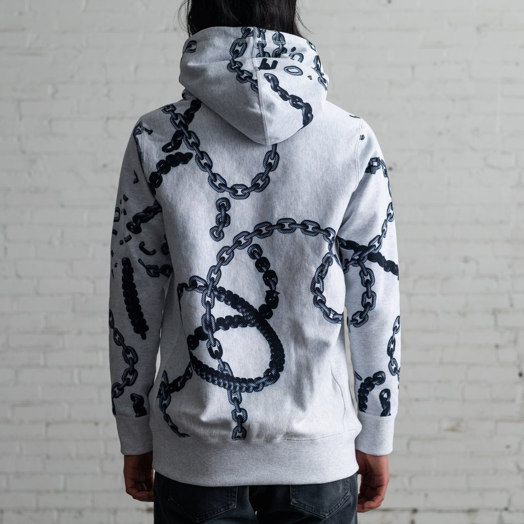 【RAISED BY WOLVES/レイズドバイウルブス】CHAINS HOODIE パーカー / HEATHER ASH