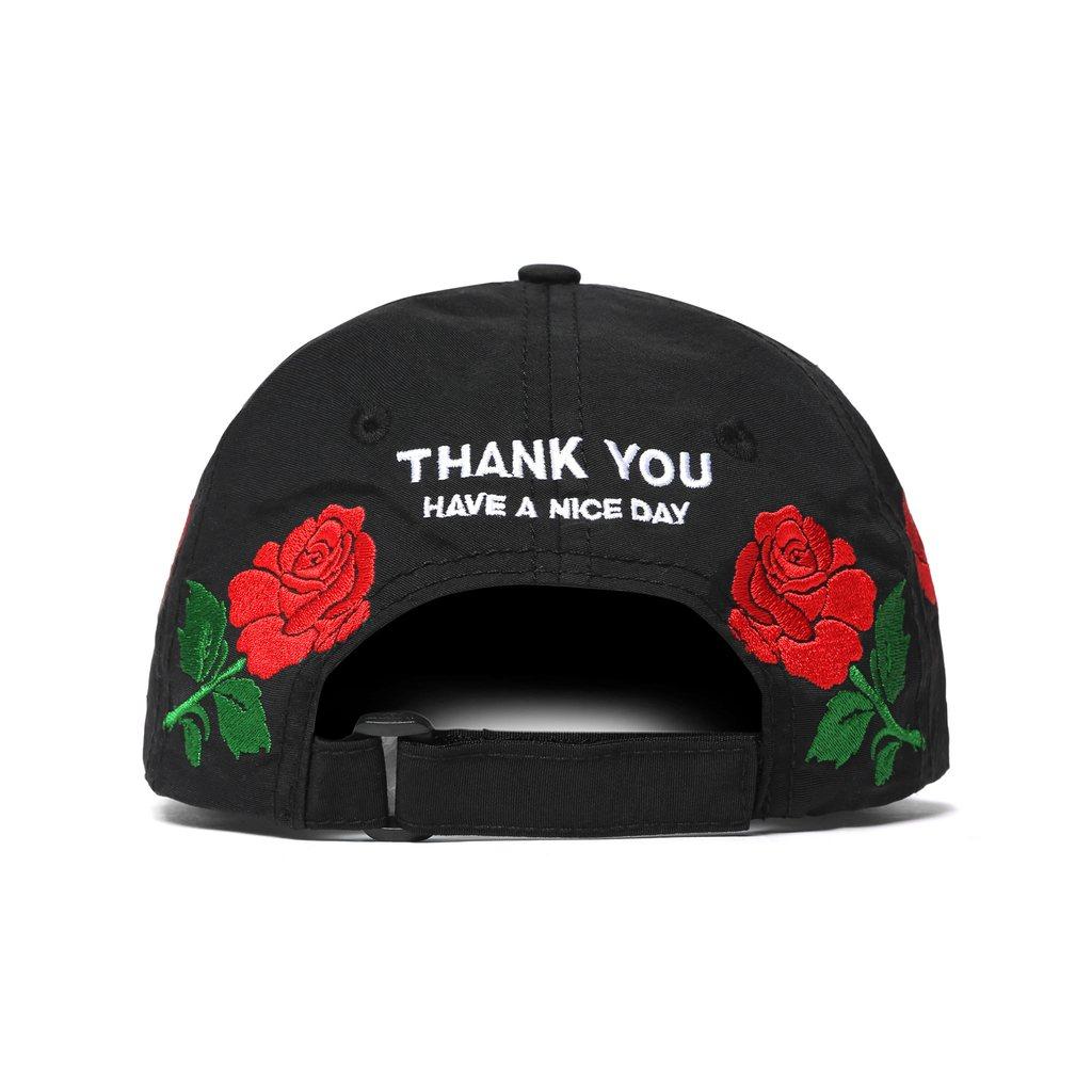 【CHINATOWN MARKET/チャイナタウンマーケット】THANK YOU ROSE HAT キャップ / BLACK