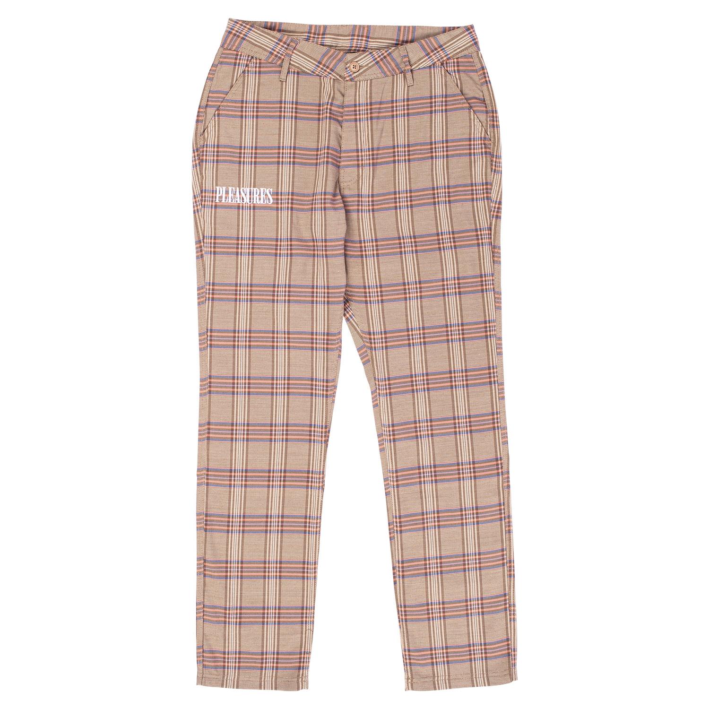 【PLEASURES/プレジャーズ】ORCHESTRA PLAID PANT パンツ / PINK